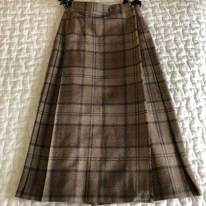 Rare Vintage Plaid Wool Skirt